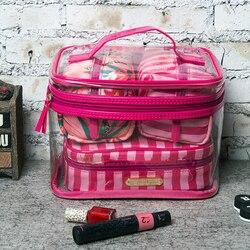 Прозрачная косметичка из ПВХ, дорожная косметичка, набор косметичек, органайзер для макияжа, чехол для макияжа, косметичка, косметичка