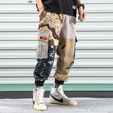 iiDossan 2020 Patchwork Men Cargo Pants Men Multi-Pocket Joggers Pants Military Overalls Japanese Harajuku Streetwear Trousers