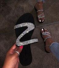 AGUTZM 2020 New Sandals Women Bright Diamond Casual Outdoor Travel Flip Flop Beach Shoes Women Non-slip Durable Slippers h09 new birkenstock salina women flip slippers anti slip birkenstock 850 flip flop beach slippers man sandals