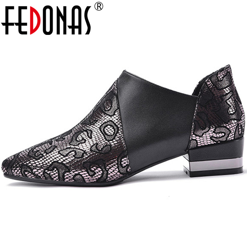 FEDONAS Women Pumps High Heels Side Zipper Brand Design Cow Leather Ruffles Prom Shoes Spring Summer Concise Shoes Woman