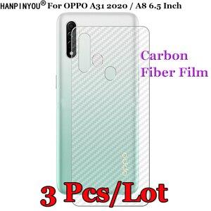 """3 шт./лот для OPPO A31 2020 / A8 6,5 """"3D Нескользящая прозрачная защитная пленка из углеродного волокна"""