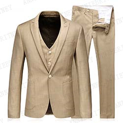 ANNIEBRITNEY Summer Linen Suits For Men 2019 Slim Fit Business Men Casual Suit Men Custom Made Big Size Groom Wedding Tuxedo Set