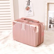 New Design Cute Pink Suitcase For Women Popular Wholesale  Travel Trolley Case 14 inches 30*15*24cm