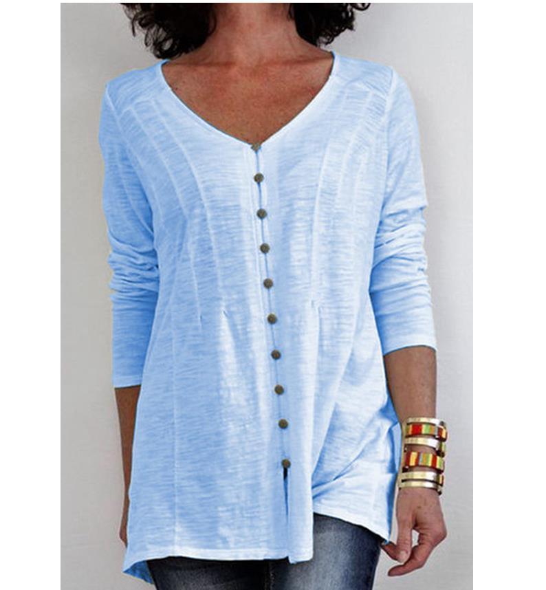 Женская блузка размера плюс 3XL, лето осень 2020, Новые Топы с v образным вырезом и коротким рукавом|Блузки и рубашки|   | АлиЭкспресс