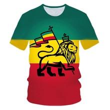 2019 summer 3D Print lion Carry Flag T-shirt Kid Boys Short Sleeve Weed Retro Design Unisex Top Tee T Shirt Children Hipster Streetwear Tshirt 4-14T футболка print bar hipster lion