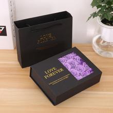 Горячая кольцо Ожерелье Держатель Флип бумажная коробка мыло роза цветок ювелирные изделия помада Подарочный чехол