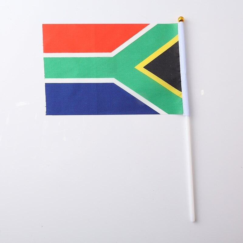 Терилен Мексиканский Флаг 30,5*21*0,5 см ручной Национальный флаг с принтом Австралийский флаг мода нейлон патриотические полосы - Цвет: South Africa