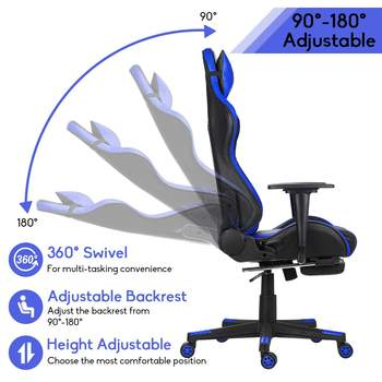 WCG Gaming Chair Computer Armchair Home Swivel Office Chair Lying Household Lifting Adjustable Desk Chair Racing Gamer Chair 3