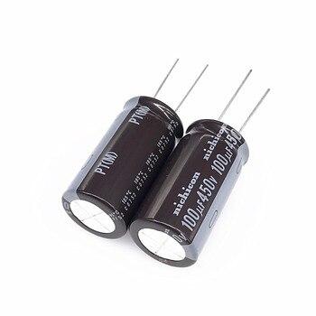 10 шт NICHICON герметизирующая ptfe-лента для 450V100UF 18X35 мм электролитический конденсатор с алюминиевой крышкой, 100 мкФ/450 V высокой частоты долгий ср...