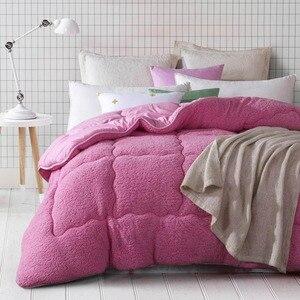 Image 5 - Svetanya quente consolador grosso enchimento de cama artificial cordeiro cashmere joga cobertor