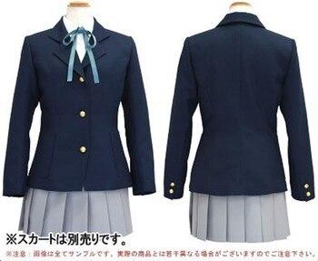 ¡K-ON! Cosplay de anime hombre mujer cosplay de alta calidad jk uniforme de la Universidad traje conjunto completo Camisa + chaqueta + falda + pajarita