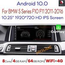 Android 10,0 Автомобильный мультимедийный плеер для BMW 520i 525i 528i F10 F11 2011-2017 с BT WIFI 4G LTE GPS навигация радио