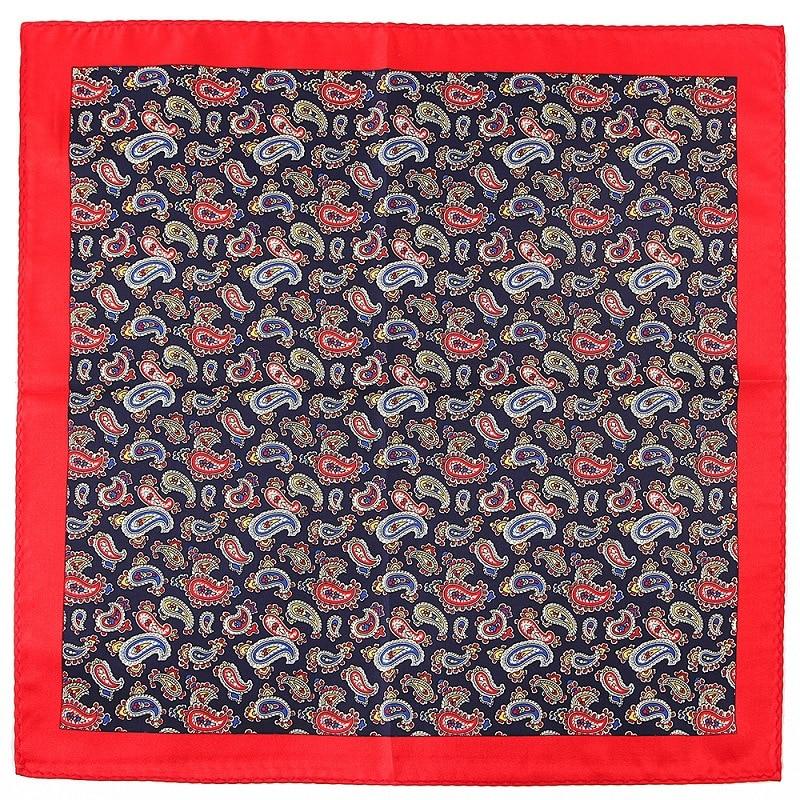 NEW 32 X 32 CM Large Handkerchief Man Paisley Flower Dot Pocket Square Men Paisley Casual Hankies For Men's Suit