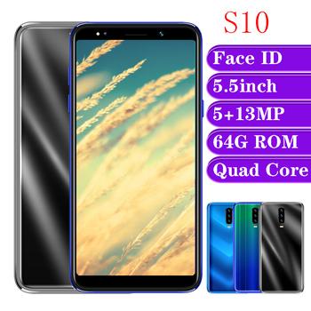 S10 globalnego telefonów komórkowych 4G RAM 64G ROM smartfony z systemem Android czterordzeniowy Face ID 5 5 cal ekran 13MP telefonów komórkowych odblokowany Celulars tanie i dobre opinie BYLYND Odpinany Nowy Rozpoznawania twarzy Do 48 godzin 3000 Adaptacyjne szybkie ładowanie Bluetooth 5 0 Pojemnościowy ekran