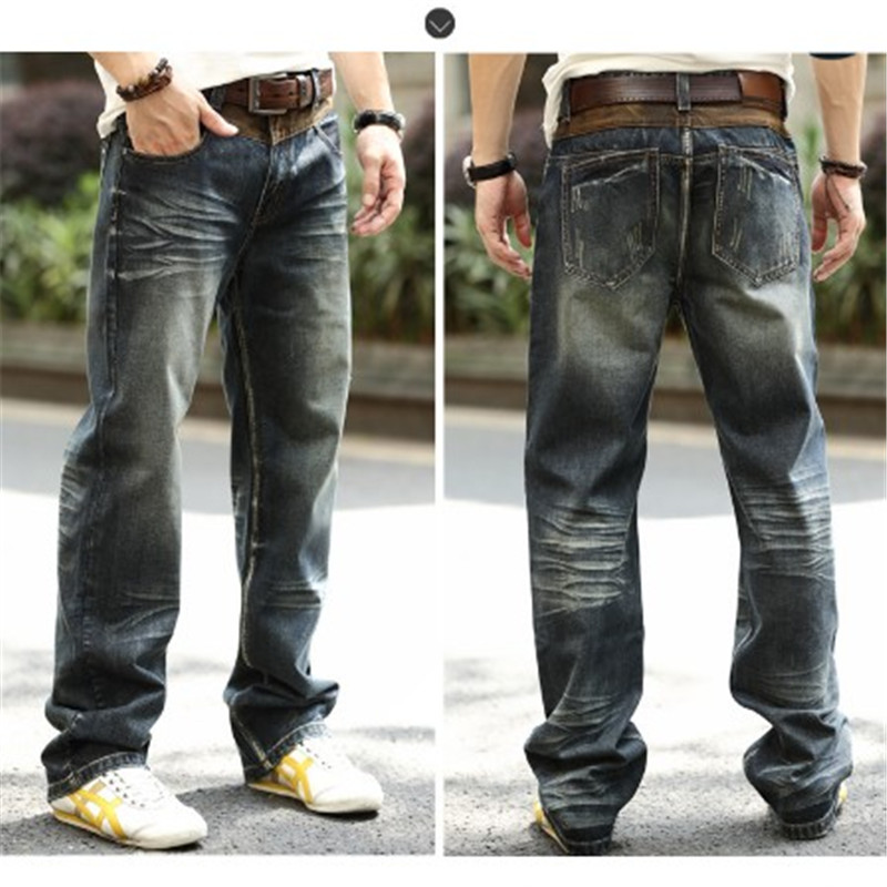 Plus Size Vintage Fashion Men Autumn And Winter Jeans Hip Hop Mens Jeans Brand Vintage Pants