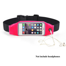 Women Men Waist Bag Touching Waterproof Belt Pouch Mobile Phone Holder for Smartphones Morning Exercise Accessory