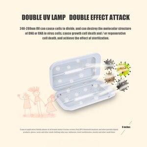 Image 4 - UV Sterilizer Box Portable Mask UV Sterilizer Disinfectant box Cabinet Gloves Cleaner Mobile Double Ultraviolet Phone box