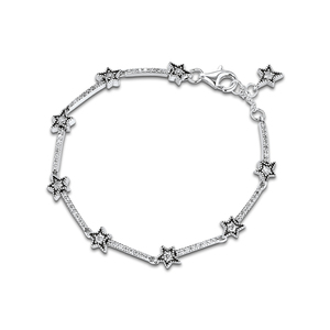 Image 4 - Christmas Celestial Stars Bracelets For Jewelry Making Sterling Silver Jewelry For Woman DIY Fashion Bracelets