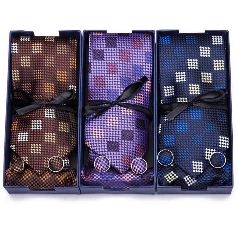 Nuovo 7.5 centimetri 100% Cravatta di Seta di Qualità di Hight Della Banda uomo Cravatte Per Gli Uomini Cravatte Floreali Accessori Da Sposa Formale Dresss contenitore di Regalo del partito