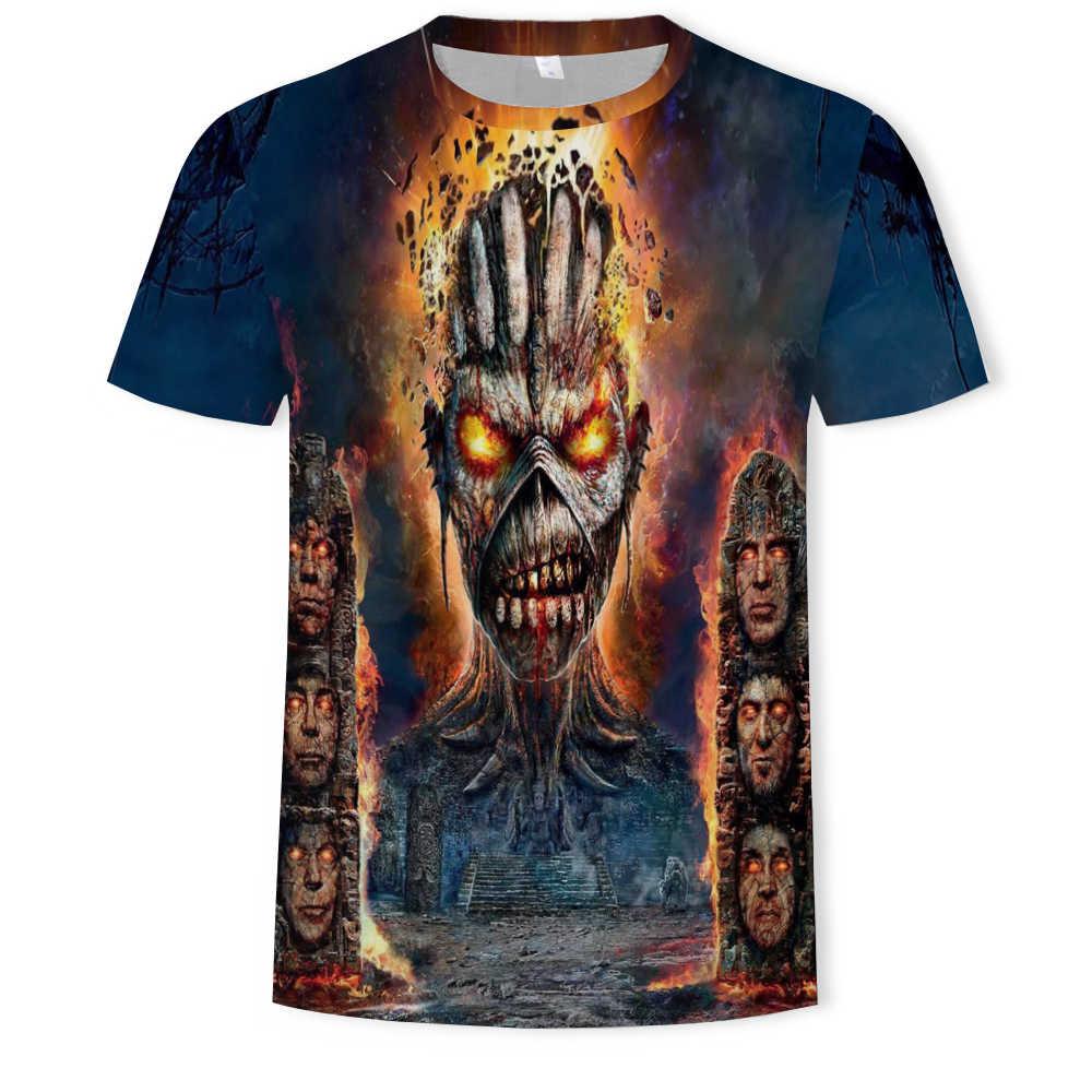 2019 여름 새로운 남성 티셔츠 총과 장미 금속 바위 아바타 3d 디지털 인쇄 펑크 의류 트렌드 라운드 넥 느슨한 티셔츠