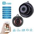 V380 Экшн-камера с Wi-Fi 1080P Камера Беспроводной CCTV ИК-камера Ночное видение Обнаружение движения 2-полосная видео отслеживание движения для дом...
