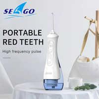 SEAGO USB Aufladbare Wasser Flosser Oral Irrigator Dental 3 modi 200ML Wasser Tank Wasser Jet Wasserdichte IPX7