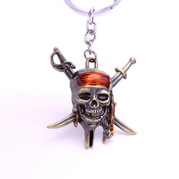 Captain Jack Sparrow Caribbean Pirate Pirate Skull lanyard for keys beautifully plated alloy keychain майка борцовка print bar pirate skull page 2
