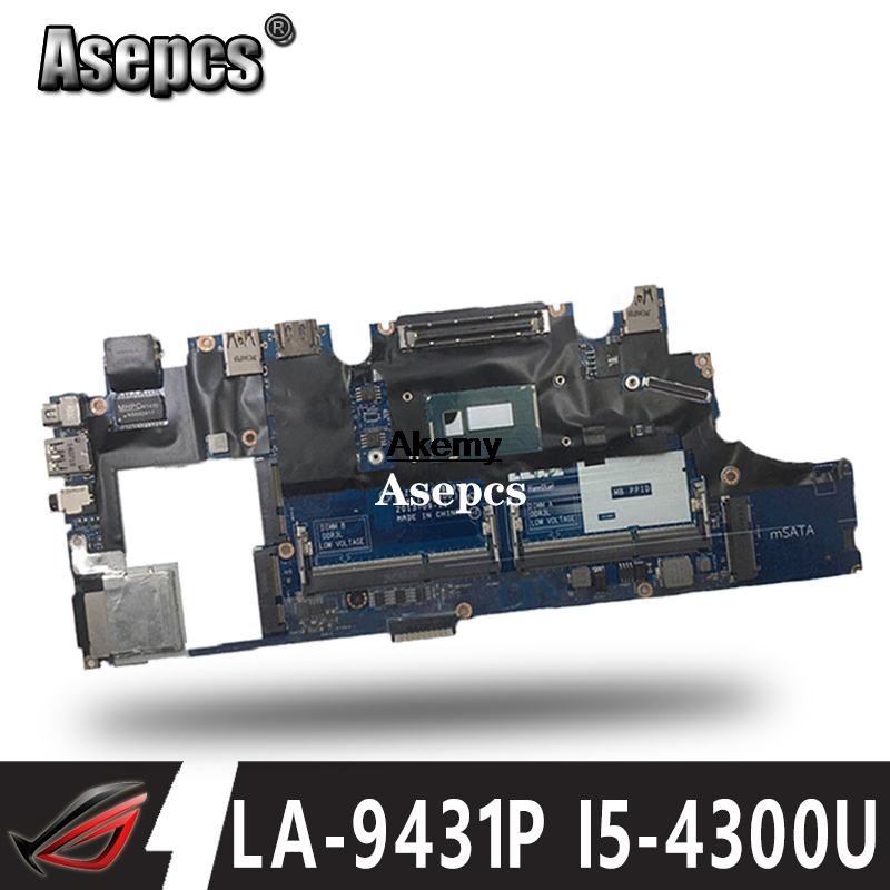 Laptop Motherboard VAZ50 LA-9431P For Dell Latitude E7240 Laptop Motherboard CN-0GMYR8 0GMYR8 GMYR8 I5-4310u Tested Good