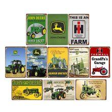 Сельскохозяйственные тракторы, металлические оловянные знаки, винтажный Международный постер для сборщика, ретро-украшение для гаража и ф...