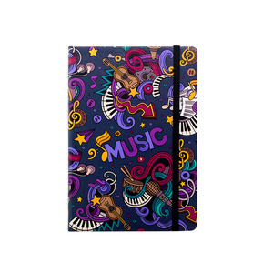 Image 3 - Muziek A5 Gestippelde Notebook Dot Grid Journal Hard Cover 80gsm Travel Planner Dagboek
