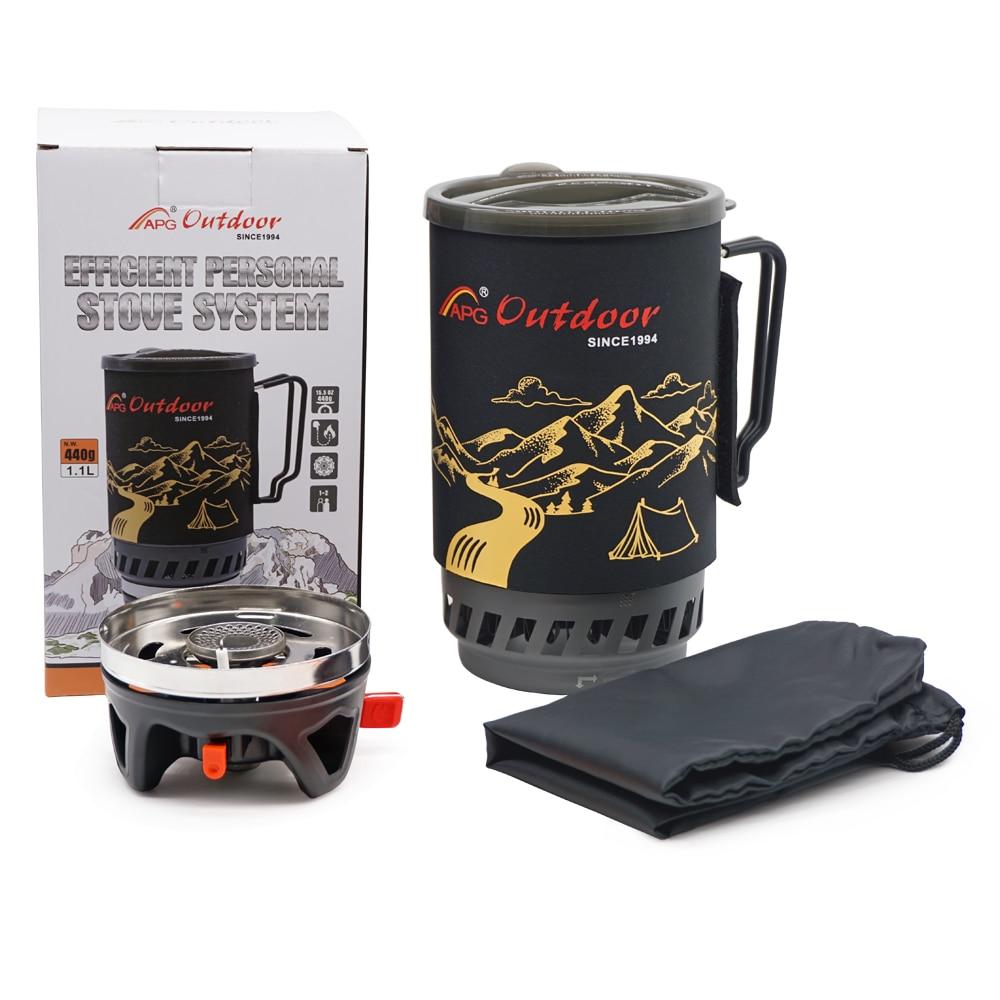Купить с кэшбэком APG 1400ml Camping Gas Stove Fires Cooking System and Portable Gas Burners