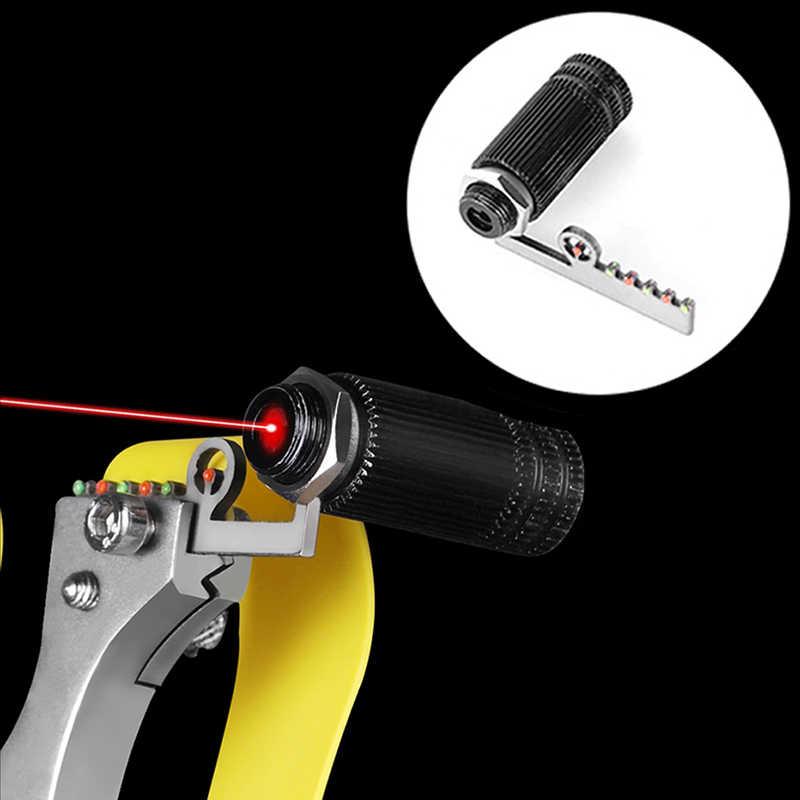 1 pcs slingshot 액세서리 레이저 보정 장비 적외선 레이저 빛 레이저 시력을 목표로 빨간 레이저 빛