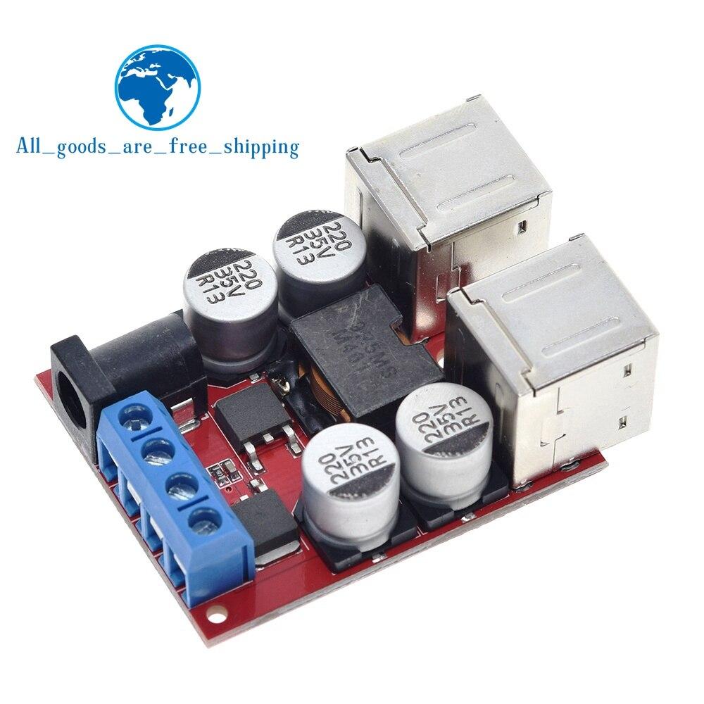 TZT 8в 35в 5В 8А DC DC плата для зарядки транспортного средства блок питания модуль сброса давления 4 порта USB выход мобильное зарядное устройство Интегральные схемы      АлиЭкспресс