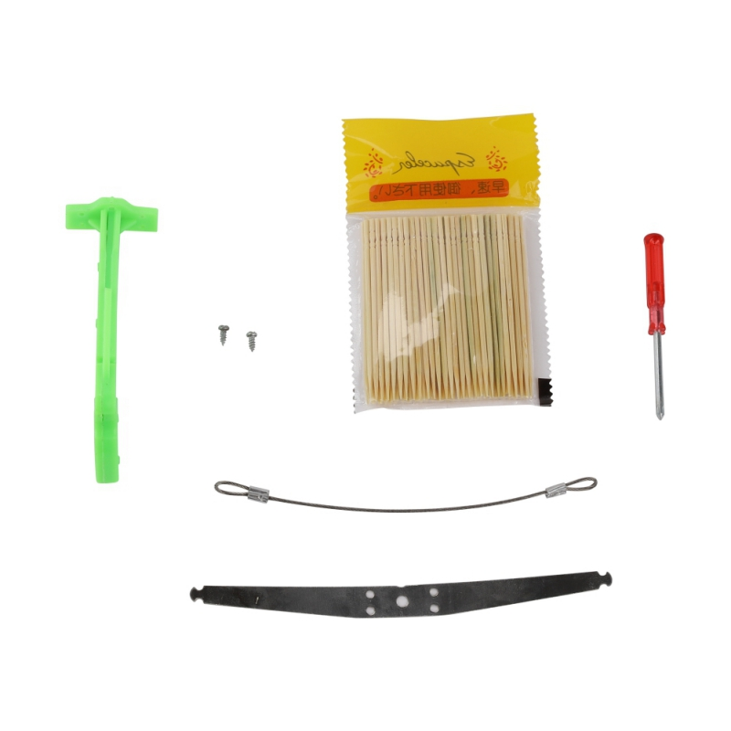DIY Children Kid Mini Toothpick Cross Bow Shooting Toy With 100PCS Toothpicks Best Gifts