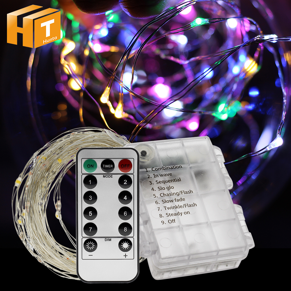 LED Copper Wire String Lights Battery Operate LED Fairy Lights Christmas Wedding Garland Tree Decoration Lights Indoor Outdoor