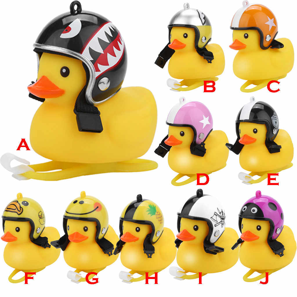 2019 Hot Sale Cartoon Duck Bicycle Bells Kids Shining Duck Head Light Handlebar Sound bell Bike Duck Light Bike Accessories