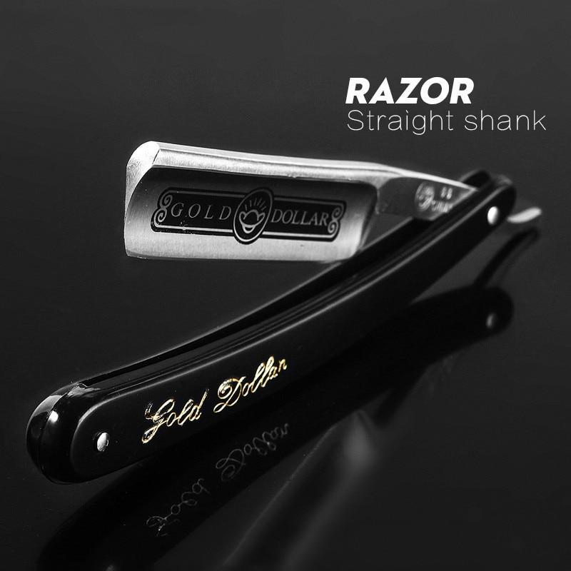 lâminas faca dobrável dos homens aço inoxidável barbear navalha g0317