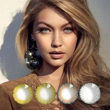 Цветные контактные линзы jewelens ed цветные для глаз косметические