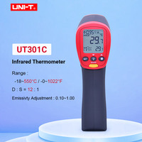 UNI T UT301A UT301C Digital thermometer outdoor 18 350C/0 622F 12:1 IR Temperature meter infrared gun with LCD backlight