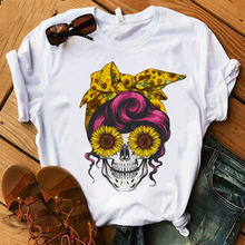 Женская камуфляжная Бандана с рисунком черепа оленя в лесу футболка