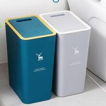 Grand couvercle de poubelle en plastique, grande poubelle nordique, presse en plastique, étanche, créative, toilettes, produits ménagers, DG50WB