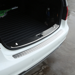 Dla Mercedes Benz W212 E180L E200L E260L E300L stal nierdzewna ochraniacz zderzaka tylnego bagażnika wewnętrzna/zewnętrzna zabezpieczenie progu osłona podstawy