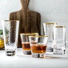 Przewrotny złoty materiał szkany kubek szklany kubek na prezent home odporny na wysoką temperaturę kubek do picia kieliszek d