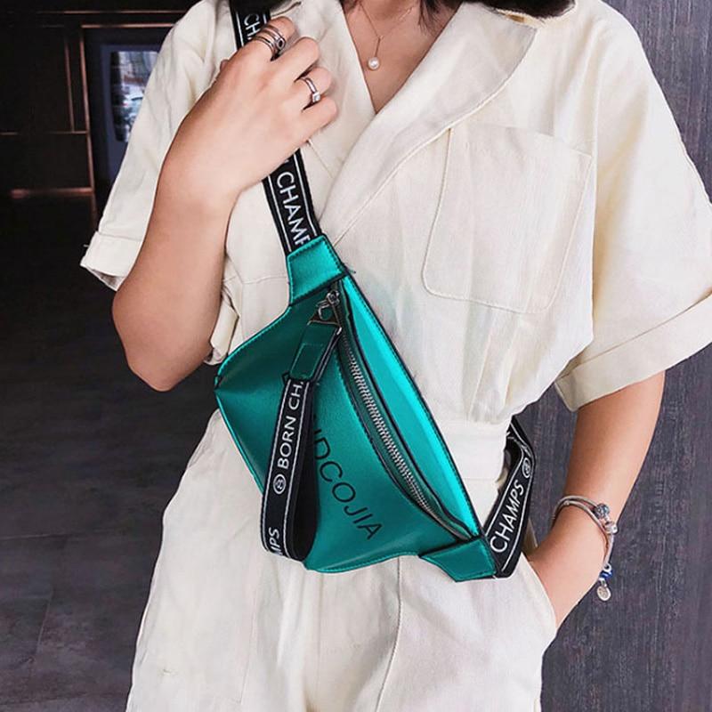 Waist Bag Fashion Women Fanny Pack Belt Bags New Letter Pattern Messenger Bag Hip Package PU Ladies Chest Pack Phone Purse