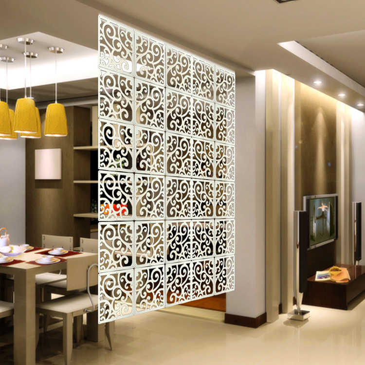 Wpc Multi Function Wall Sticker Partition Hanging Curtain Living Room Porch Divider Curtain Hanging Carved Partition Screen 6pcs Screens Room Dividers Aliexpress