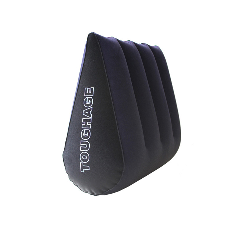 TOUGHAGE Triangle Wedge shape inflatable Adult pillow PVC Flocking Close skin Position companion Cushion Sofa Optional air pump