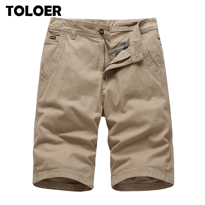 Mens Military Cargo Shorts 2020 Brand New Army Khaki Green Tactical Shorts Men Cotton Loose Work Casual Short Pants Plus Size 38