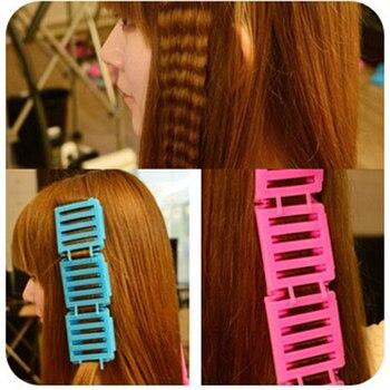 3 piezas DIY Corn Clip para el cabello rizador para mujer belleza de alta calidad peluquería Estilo onda Perm barra herramienta Color al azar P20