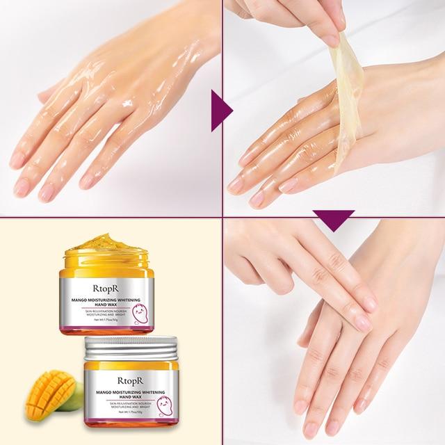 Mangue hydratant main cire blanchissant la peau brillant hydratant masque pour les mains et blanchissant soins du visage Anti-âge sérum crème pour les mains