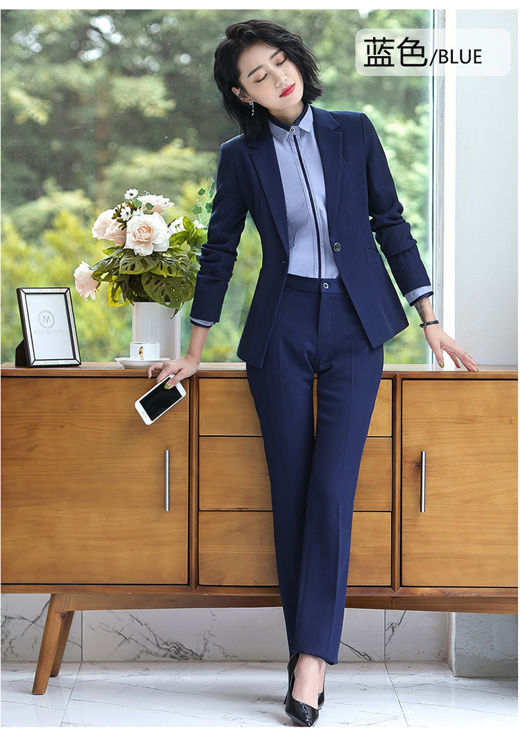 Ha4e855af1b8c49bfad2c8fcefec0c6f4V - Autumn Business Casual Long Trousers Women Solid Black Blue Red Formal Pants Office Ladies Work Wear Straight Suit Pant 4XL
